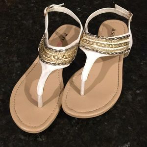 WORN ONCE Just Fab Beaded Sandals